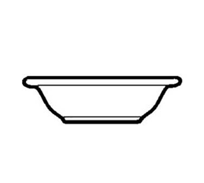 "World Tableware VIC-10 6.625"" Viceroy Grapefruit Bowl - Plain, (3) Green Bands"