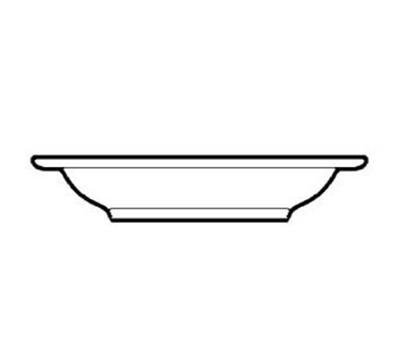 "World Tableware VIC-3 8.75"" Viceroy Soup Bowl - Plain, (3) Green Bands"
