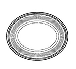 "World Tableware WEL-12 9.25"" Platter, Wellington Ultima"