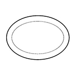 World Tableware PWC-34 9.37-in Platter w/ Wide Rim & Rolled Edge, Cream White, Princess Ultima