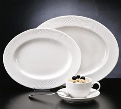 World Tableware BO-1152 8-oz Basics Orbis Eared-Handle Cup - Porcelain, Bright White