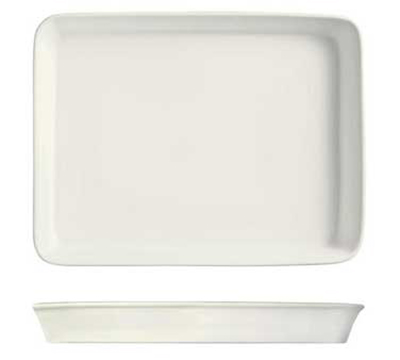 """World Tableware BW-9000 Chef's Selection Serving Pan - 15-1/4x12"""" Ceramic, Ultra Bright White"""