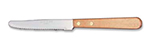 "World Tableware 2001702 8.5"" Steak Knife w/ Wooden Handle & Round Tip"