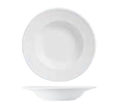 World Tableware 150210310 22-1/2-oz Empire Rimmed Pasta Bowl - Porcelain, Bright White