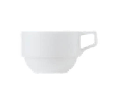 World Tableware 150230220 8-1/4-oz Empire Stackable Cup - Porcelain, Bright White