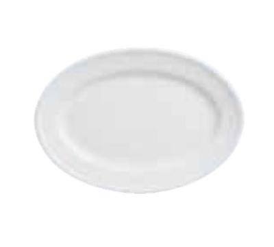 """World Tableware 150250310 Oval Empire Platter - 12-1/8x8-7/8"""" Porcelain, Bright White"""