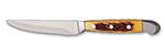 "World Tableware 2012522 9.25"" Steak Knife w/ Full Tang & Yellow Pom Handle"