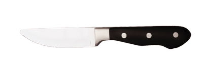 World Tableware 2012694 10-in Steak Knife w/ Metal Tang & Plastic Handle, Black, Deluxe Chop House