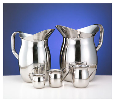 World Tableware BP-200SF 2-liter Belle Water Pitcher - 18/8 Stainless, Satin-Finish