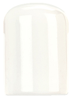 "World Tableware BW-002 1-1/2"" Chef's Selection Pepper Shaker - Porcelain, Ultra Bright White"