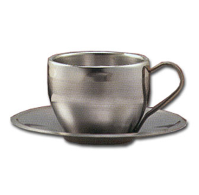 "World Tableware CS100 5-3/4"" Cappuccino Saucer - 18/8 Stainless"