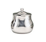 World Tableware CT-516 13-oz Belle Sugar Bowl with Lid - 18/8 Stainless