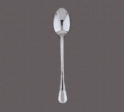 "World Tableware 592012 10-1/2"" Louvre Serving Spoon - Silverplated"