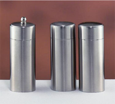 "World Tableware SS-100 4.5"" Salt Shaker w/ 3.5-oz, Stainless"