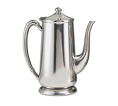 World Tableware 8401 64-oz Traditional Gooseneck Coffee Server - Silverplated