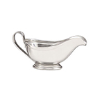 World Tableware 8412 5-oz Traditional Sauce Boat - Silverplated