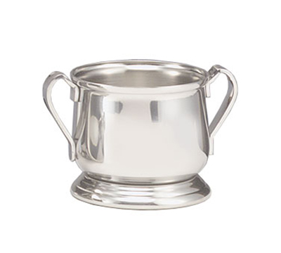 World Tableware 8436 8-oz Traditional Sugar Bowl with Handles - Silverplated