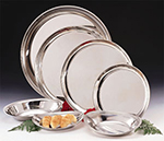 "World Tableware 864103 16"" Round Tray - Silverplated"