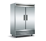 "Metalfrio CFD-2RR-48 54"" Two Section Reach-In Refrigerator, (2) Solid Door, 115v"