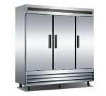 "Metalfrio CFD-3FF-72 81"" Three Section Reach-In Freezer, (3) Solid Doors, 115v"