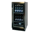 "Metalfrio HBC-60 15"" (1) Section Bar Refrigerator - Swinging Glass Door, 115v"