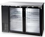 "Metalfrio MBB24-48G 49"" (2) Section Bar Refrigerator - Swinging Glass Doors, 115v"