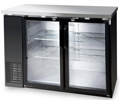 "Metalfrio MBB24-48G 49"" (2) Section Bar Refrigerator - Swinging Glass Doors, 115v"
