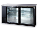 "Metalfrio MBB24-60G 60"" (2) Section Bar Refrigerator - Swinging Glass Doors, 115v"