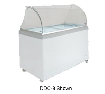 "Metalfrio DDC-4 31"" Stand Alone Ice Cream Freezer w/ 4-Tub Capacity & 2-Tub Storage, 120v"