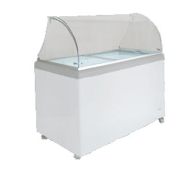 "Metalfrio DDC-8 52"" Stand Alone Ice Cream Freezer w/ 8-Tub Capacity & 6-Tub Storage, 120v"