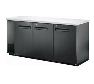 "Metalfrio MBB24-72S 72"" (3) Section Bar Refrigerator - Swinging Solid Doors, 115v"