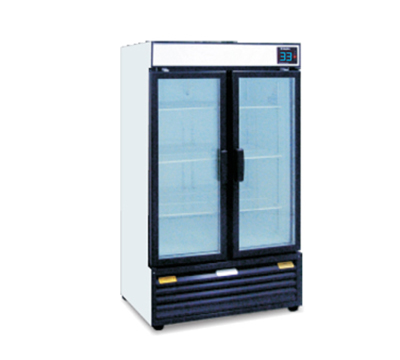 "Metalfrio REB-18 36"" Two-Section Refrigerated Display w/ Swing Doors, Bottom Mount Compressor, 115v"