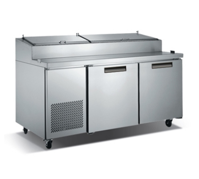 "Metalfrio PICL2-71-9 71"" Pizza Prep Table w/ Refrigerated Base, 115v"
