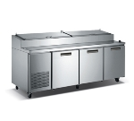 "Metalfrio PICL3-92-12 92"" Pizza Prep Table w/ Refrigerated Base, 115v"