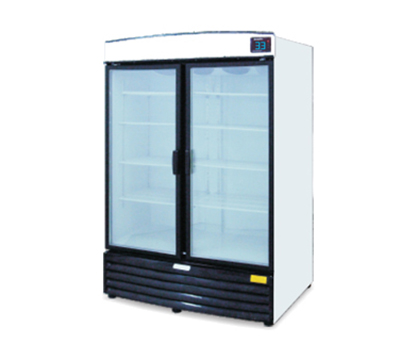 "Metalfrio REB-43 55"" Two-Section Refrigerated Display w/ Swing Doors, Bottom Mount Compressor, 115v"