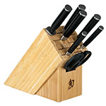 Shun DMS0820 9-Piece Epicurean Block Set Paring Utility Chefs Offset Bread Santoku Herb Shear