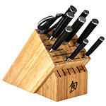 Shun DMS1020 10-Piece Chefs Block Set Paring Utility Chef Slicing Offset Bread Santoku Boning