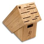 Shun TDMS0600 6-Piece Basic Block Set Paring Serrated Utility Chef Honing Steel Shear Block
