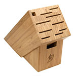 Shun TDMS0900 9-Piece Gourmet Block Set, Hammered Blades, 11-Slot Block