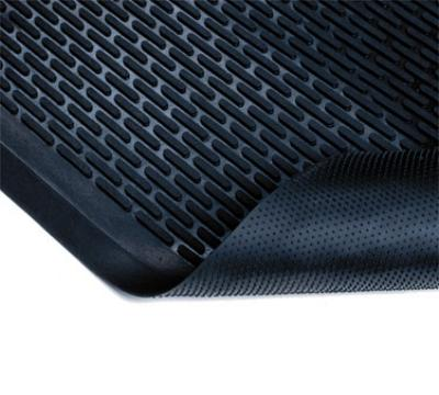 "Notrax T29U0035BL Ridge Scraper Entrance & C-Store Floor Mat, 3 x 5 ft, 1/4"" Thick, Black"