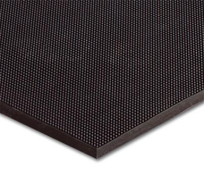 "Notrax 438023 Finger Scrape Entrance Floor Mat, 32 x 39 in, 3/8"" Thick, Black"