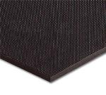 Notrax 438024 Finger Scrape Entrance Floor Mat, 36 x 72 in, 3/8 in Thick, Black