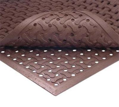 Notrax 1002251 Superflow Reversible Grease Proof Floor Mat, 3 x 5 ft, 5/8 in Thick, Red