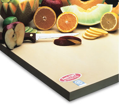 Notrax 147-629 16-in Cutting Board, 1-in Thick, Anti-Microbial Rubber Compound