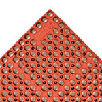 "Notrax 182725 San-Eze II Grease-Proof Floor Mat, 39 x 29-1/4 in, 7/8"" Thick, Red"