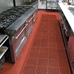 """Notrax T11U3958RD San-Eze II Grease-Proof Floor Mat, 39 x 58-1/2 in, 7/8"""" Thick, Red"""