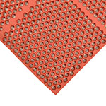 "Notrax 406183 Optimat Grease-Proof Floor Mat, 36 x 36 in, 1/2"" Thick, Red"