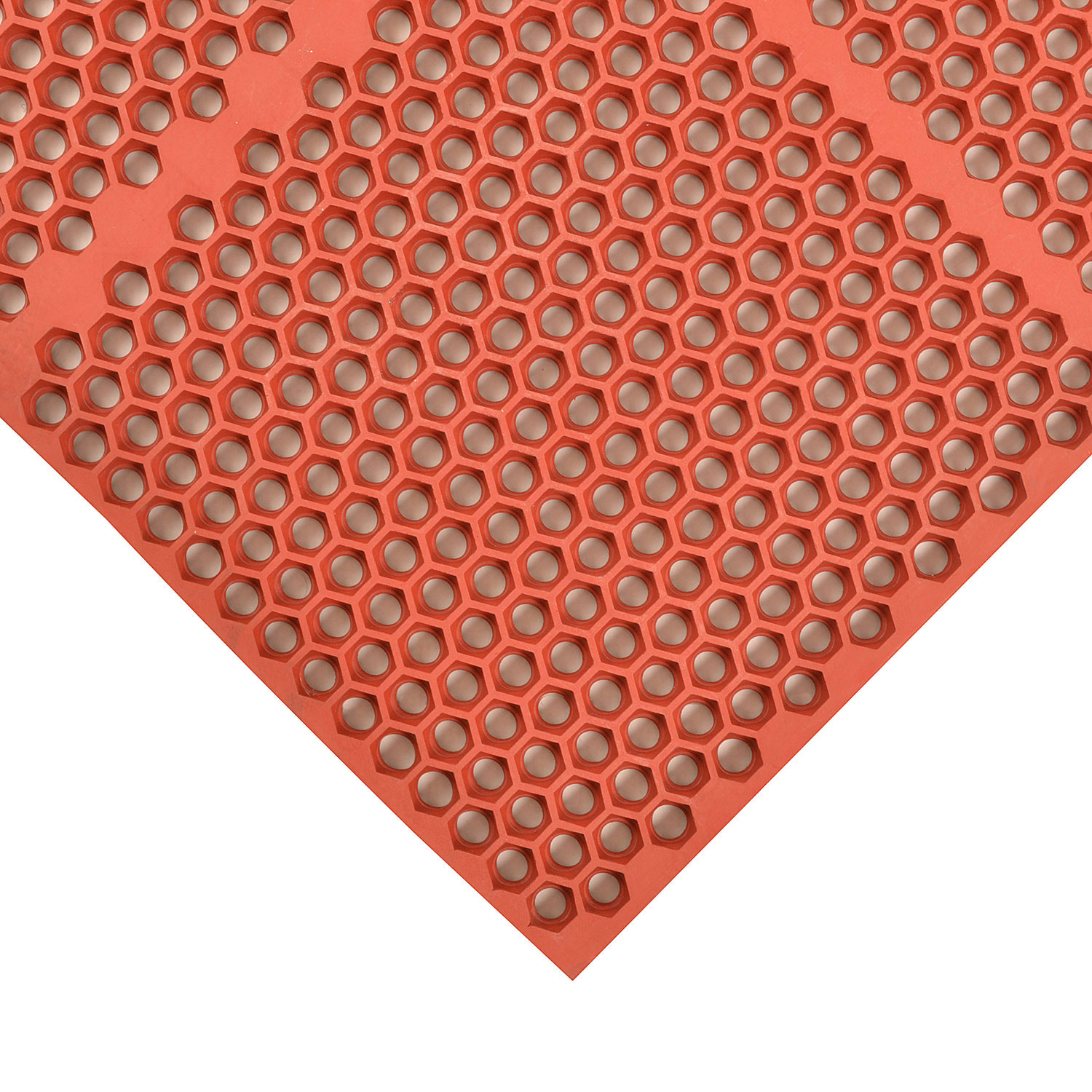 "Notrax 406186 Optimat Grease-Proof Floor Mat, 36 x 72 in, 1/2"" Thick, Red"