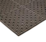 "Notrax 411566 Mult-Mat II Reversible Drainage Floor Mat, 3 x 8 ft, 3/8"" Thick, Brown"