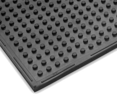 "Notrax 411627 Traction Mat Multi-Purpose Floor Mat, 3 x 2 ft, 3/8"" Thick, General Black"